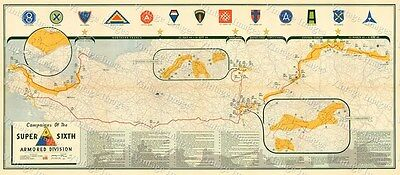 6th Armored Division Campaign Map IRON MAN WWII MILITARY MAP