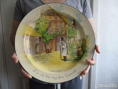 Large Royal Doulton Gaffers Way From Zummerset Charger D4210 by C Noke 13""