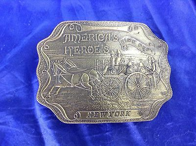American Heroes New York Fire Department Big Brass Belt Buckle