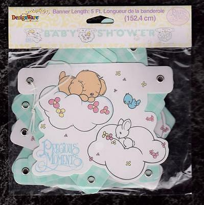 5 ft Precious Moments Baby Boy Shower Banner 2000 American Greetings Sealed New
