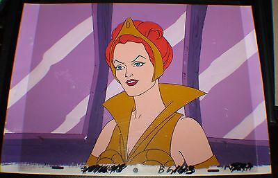 He-Man MOTU Original Cartoon Production Animation TEELA CEL w/Painted Background