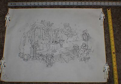 80's General Mills Monster Cereal Org Pencil Drawing Count Chocula Frankenberry