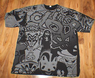 Vtg Insane Clown Posse Tee T shirt Psychopathic Records ICP 3XL All Over Front