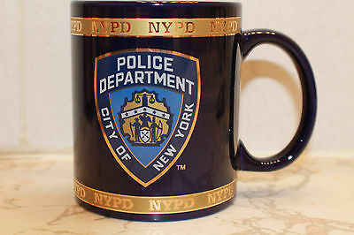Nypd City Of New York Police Department 11 Oz Coffee Mug Cobalt Gold Band