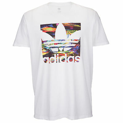 Adidas Colorwave White Graphic Tee T Shirt Mens Size X Large Nwt
