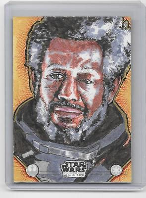 #1/1 Topps 2016 Star Wars Sketch Rogue One Autograph Sp Jm Smith