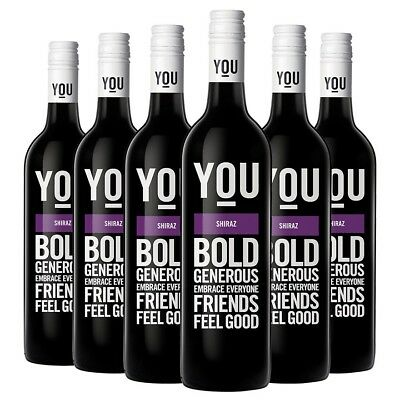 YOU Shiraz 2013 (6 x 750mL) 6 Bottles Australian Red Wine
