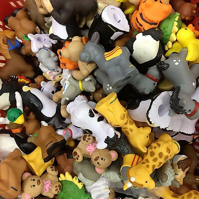 Random 15 Fisher-Price Little People Zoo Farm Animal pets RANDOM figures Kid Toy