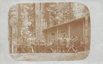 RPPC GERMANY WWI SOLDIER'S FORT MILITARY REAL PHOTO POSTCARD (c. 1915) 208