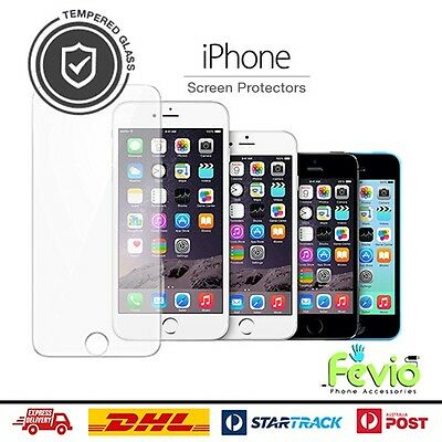Apple iPhone Screen Protector Tempered Glass By Fevio For 4,5,6,7,8+,X,XS,XS MAX