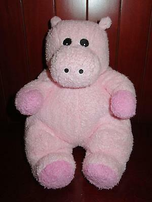 """11"""" Ty Baby HIPPOBABY Plush Stuffed Animal Rattle Soft Toy 2000 Pink Baby Hippo"""