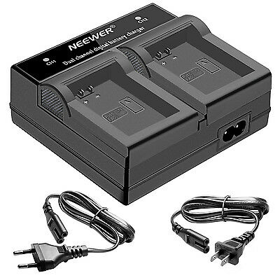 Neewer LED Dual Channel Digital Battery Charger for Sony NP-FW50 Battery