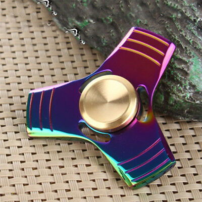 Rainbow Colors Titanium Alloy EDC Hand Fidget Spinner High Speed Focus Toy USA