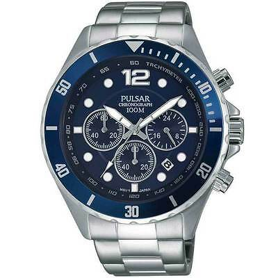 PNP   PT3719X1  Pulsar Gents Chronograph Stainless Steel Bracelet Watch