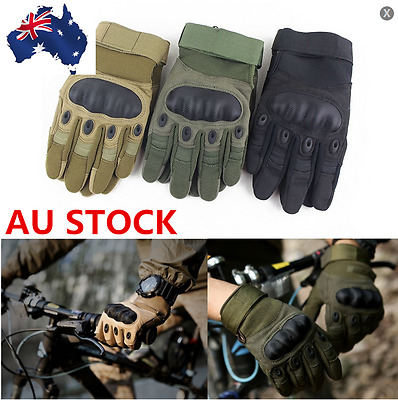 Outdoor Military Tactical Climb Cycle Gloves Full Finger Antiship Breathable AU
