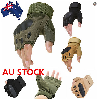 Half Fingerless Tactical Military Army Gloves Hard Knuckle Motorcycle Gloves