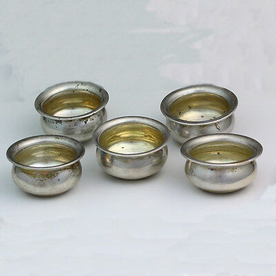 Antique Watson Company Sterling Silver Individual Open Salt Cellars - Set of 5