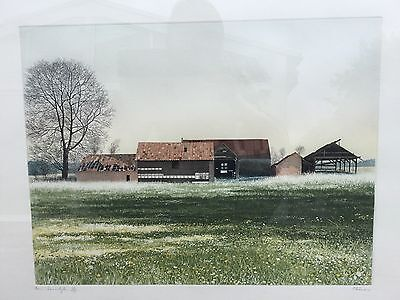 Paul Bisson Framed Limited Edition 33/175 Barn Somerleyton