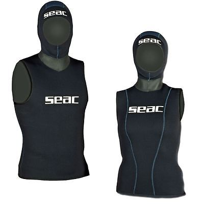 SEAC - Neoprene WETSUIT Under VEST with Hood - Mens Ladies - Sizes XS-XXXL