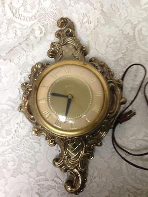 Vintage, Rare, United Clock, 15in x 9in Electric Wall Clock  (2)