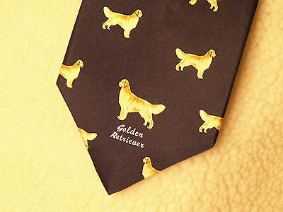 1 Golden Retriever Dog 100 % Silk Tie Mens Tie