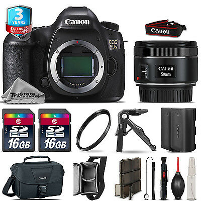 Canon EOS  5DS DSLR Camera + 50mm 1.8 STM + Extra Battery + 32GB + 2yr Warranty