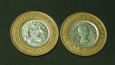 1935 and 1962. Unique Seven Pence coin type, great gift or collectors item.
