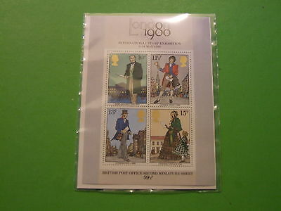 BRITAINS 2nd MINIATURE SHEET LONDON STAMP EXHIBITION 1980 MNH .SEE POST OFFER