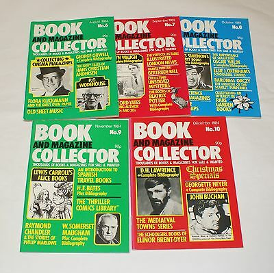 Book and Magazine Collector Issues 6 -10 Orwell Waugh Potter Wilde Carroll 1984