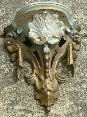 Antique Carved Gilt Wood Wall Bracket circa 1850 *  needs some stripping work