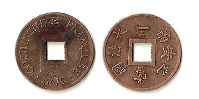 COCHINCHINE ( French Cochinchina ) 2 Sapeques 1879A  - KM 2 (XF)