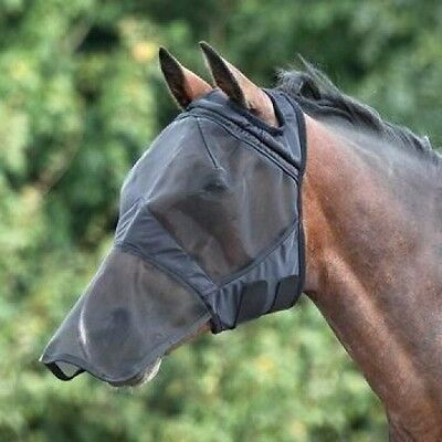Shires Fine Mesh Fly Mask With Nose, Without Ears (full face/ear holes) 6654E OS