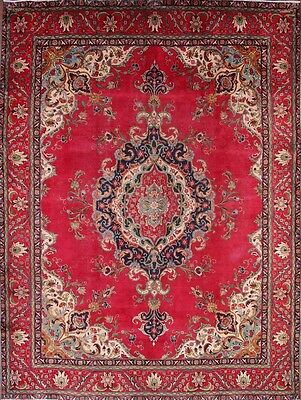Great Deal Antique Geometric 10x13 Tabriz Persian Oriental Area Rug 12' 8 x 9' 6