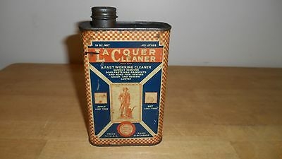 Vintage Old Advertising Tin  Minute Man Products Lacquer Cleaner