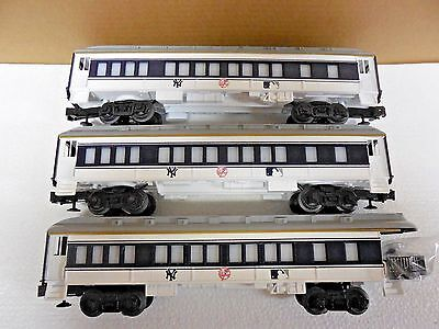 New Lionel New York Yankees 3 Passenger Cars 2 Coach 1 Observation 7-12000 C