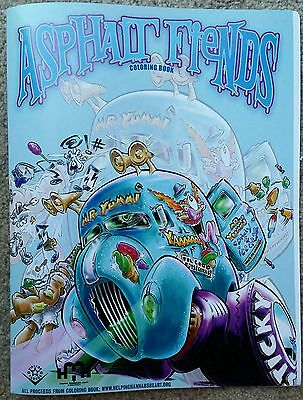 Asphalt Fiends Coloring Book 2013 Rat fink hot rod art monster tattoo rockabilly