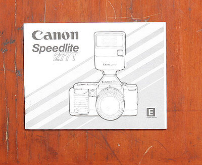 Canon Speedlite 277T Instruction Book/116894