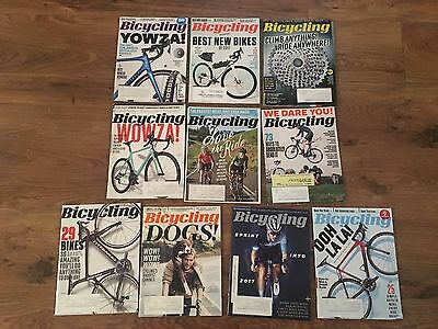 lot 10 BICYCLING magazine back issues 2015-2017 Road Trail snow Fat Tire CYCLING