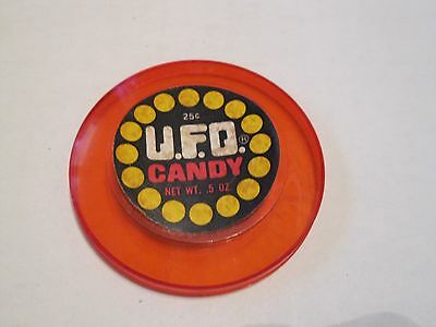 1978 Breaker Confections UFO Candy Red Lid #12 of 12  RARE