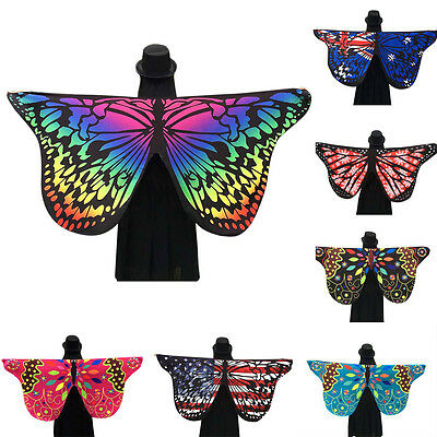 Women's Fabric Butterfly Wings Shawl Fairy Nymph Pixie Show Costume Accessory