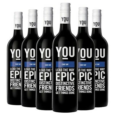 YOU Cabernet Sauvignon 2013 (6 x 750mL), AUS.