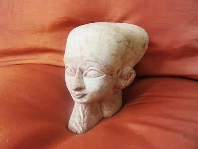 Unique Collection Antique Head Statue of Ancient Egyptian Pharaoh King Ramses II
