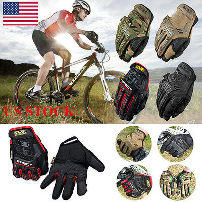 US Men Camouflage Military Tactical Mechanix Gloves Airsoft Full Finger Gloves