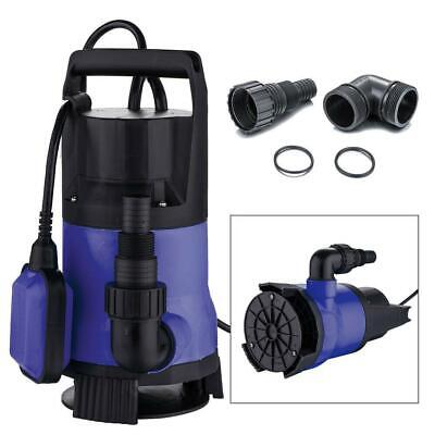 1.5HP Clear Dirty Water Submersible Plastic Pump Swimming Pool Pond Flood Drain