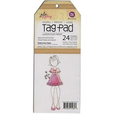 "Prima Marketing - Julie Nutting Tag Pad - 3.5""x8.5"" Watercolour Paper - 24 sheet"