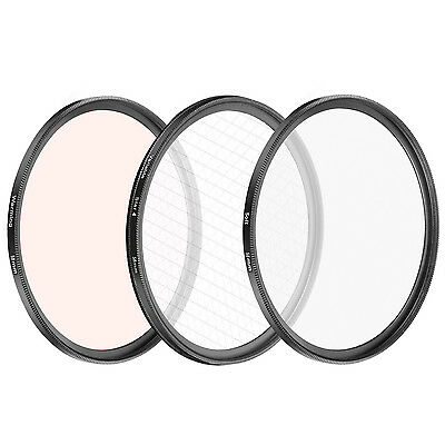 Neewer 3 Pieces 58mm Special Effect Lens Filter Set for Canon Rebel T5i T4i T3i