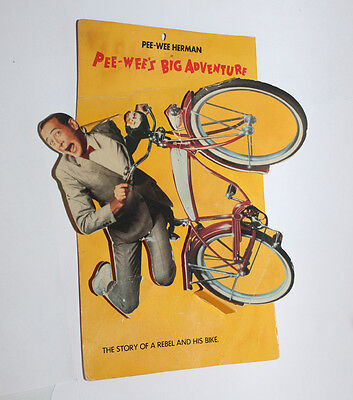 Pee-Wee's Big Advernture Original Movie Hanging Display Sign Pee Wee Herman