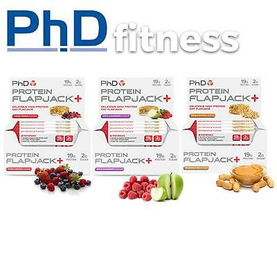 3x PhD Nutrition Protein Flapjack - 12 x 75g - (36 Bars)