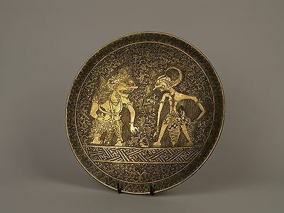 An Early 20th c. East Javan Cast Brass Shallow Bowl - Fine Decoration.