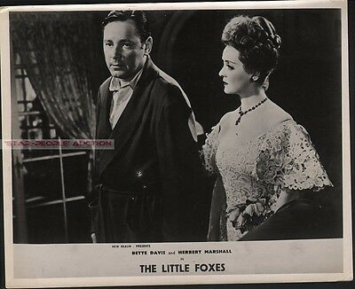 BETTE DAVIS & HERBERT MARSHALL - THE LITTLE FOXES * UK hand coloured LOBBY CARD